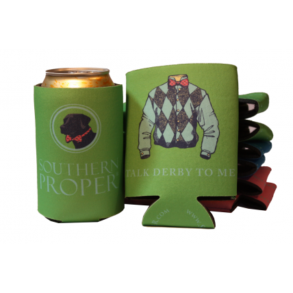 Green Talk Derby Coozie